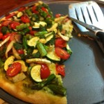 Recipe: Vegan Pizza Primavera with Salsa Verde