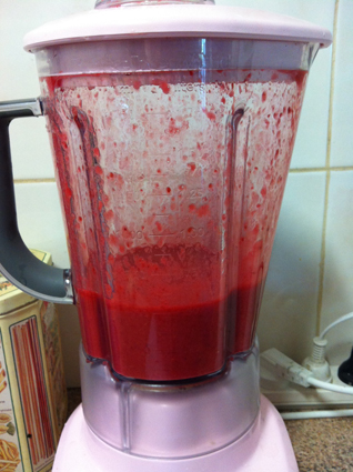 It looks like I murdered someone in this blender, but really, I didn't.