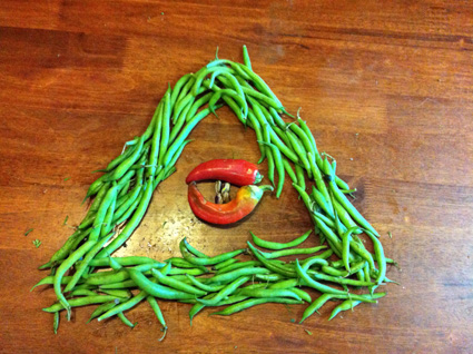 The beans are watching you.  Like the potatoes and the corn, they have eyes and ears everywhere.