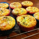Christmas Leftovers Recipe: Zucchini Pesto Surprise muffins